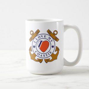 Image: Love My Coastie Crossed-anchor Mug