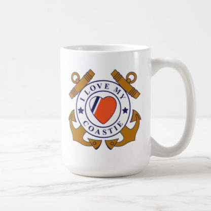 Image: Love My Coastie Crossed-anchor Mug