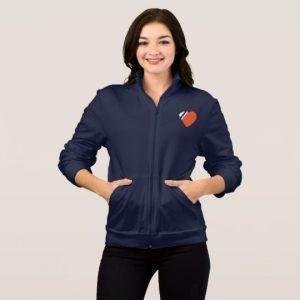 Image: Love My Coastie Crossed Anchor Back Jacket