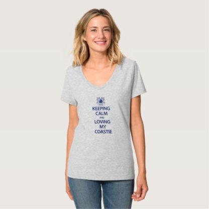 Image: Keeping Calm Loving My Coastie T-shirt