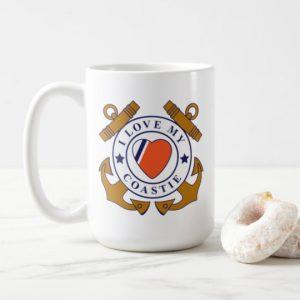 Image: Love My Coastie Crossed-anchor Mug (large)