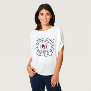Image: I Love My Coastie Bella T-shirt