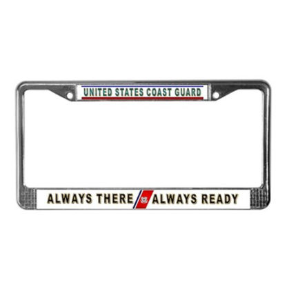 Image: Coast Guard License Plate Frame