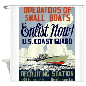 Image: Operators of small boats shower curtain