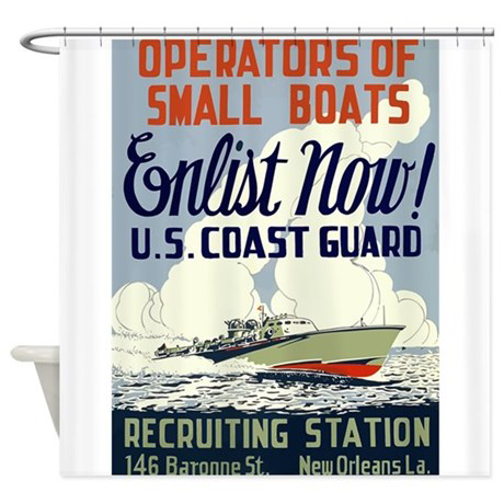 Image Operators Of Small Boats Shower Curtain