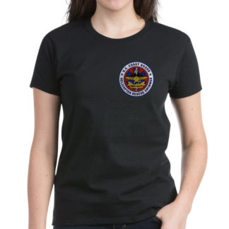 Image: Rescue swimmer patch womens dark t-shirt