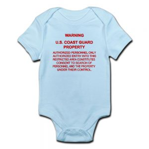 Image: Warning USCG Property Body Suit