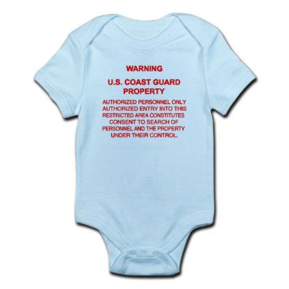 Image: Warning USCG Property Body Suit