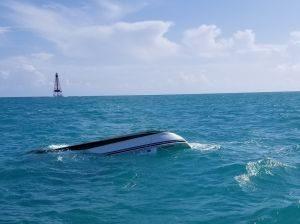 Image: capsized boat